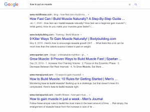 google search with intent