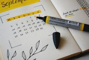 schedule your posts with a calendar