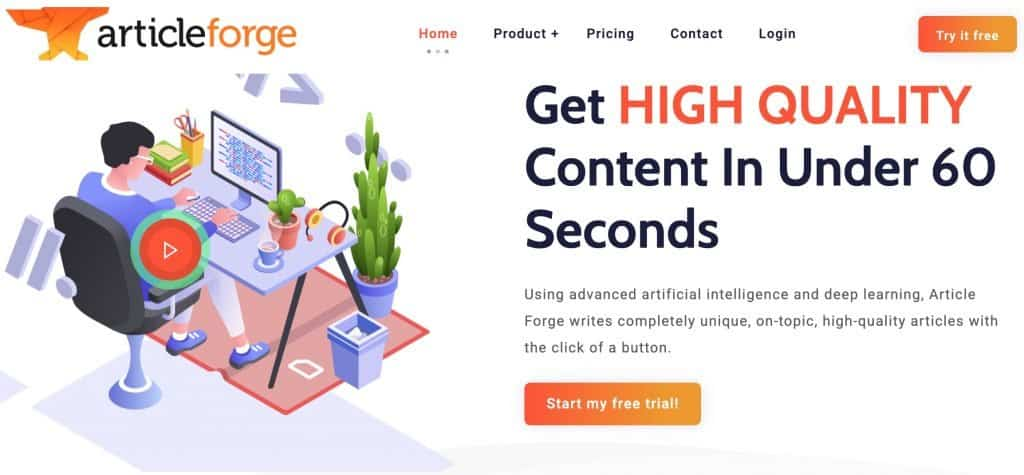 Best AI Writing Software - Article Forge